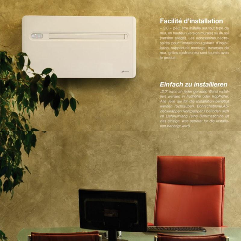 lot de 2 pcs innova 2 0 reversible monoblock klimaanlage ohne au eneinheit. Black Bedroom Furniture Sets. Home Design Ideas