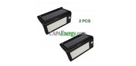 2pcs Rilevatore di movimento wireless a 50 Led per lampada solare esterna