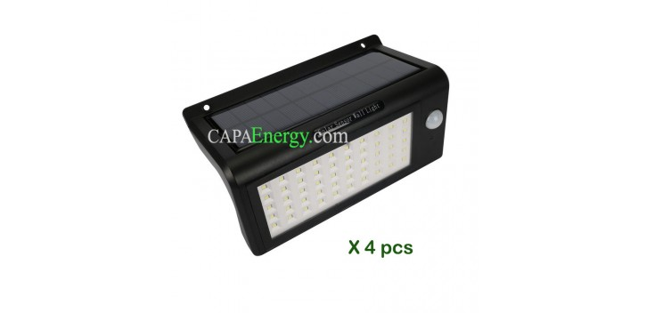 2pcs Outdoor Solar Lampe 50 Leds Wireless Bewegungsmelder