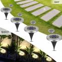 Solar LED Lichtscheiben 8 Led 4pcs