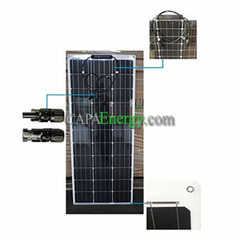 panneau solaire 100w 12v monocristalin souple flexible ecoflex. Black Bedroom Furniture Sets. Home Design Ideas
