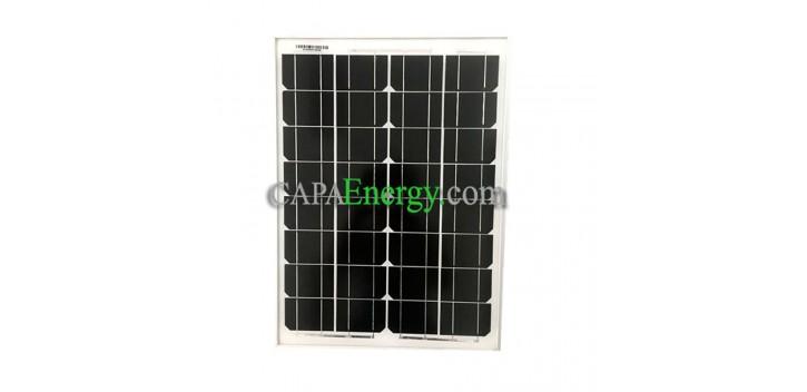 Pannello solare 30W 12V monocristallino