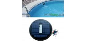2 pcs Solar-Schwimmbadleuchte , Solarbetriebene Unterwasser-Schwimmbadleuchte