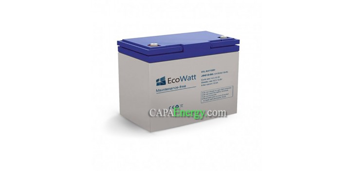 AGM 50AH 12V battery, -VoltronicPower Slow discharge EcoWatt