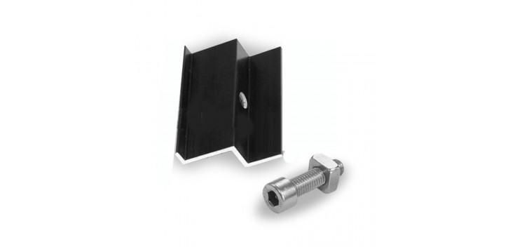 Clame de fin de fixation de fin du panneau: 30 à 50mm