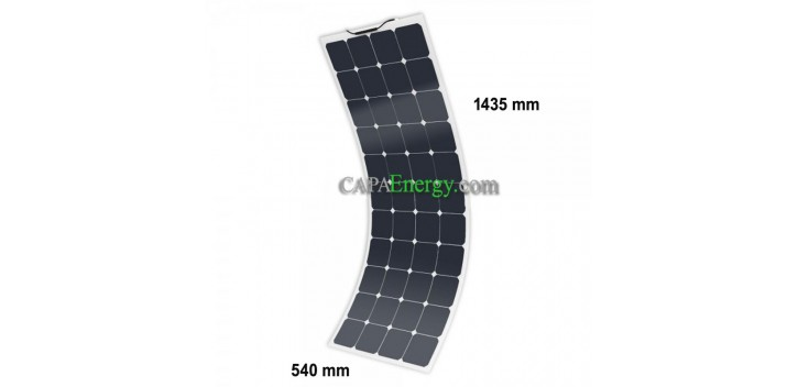 12V MX FLEX Protect 130Wc Solar Panel Back Contact