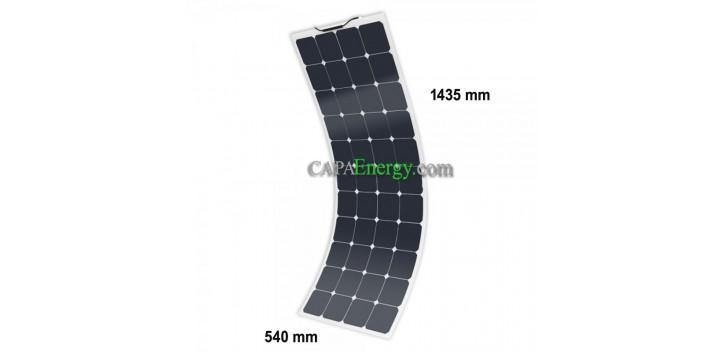 12V MX FLEX Protect 130Wc Sonnenkollektorrückseitenkontakt