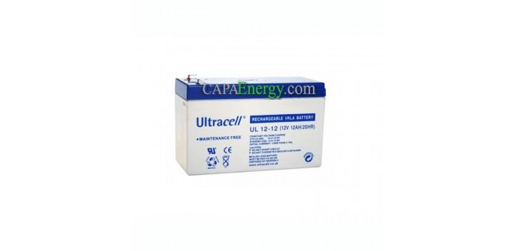 Batería solar AGM Ultracell 12V 12Ah