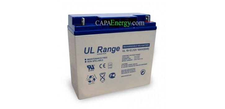 Batería solar AGM Ultracell 12V 18Ah