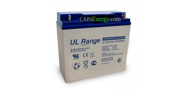 Batteria solare AGM Ultracell 12V 18Ah