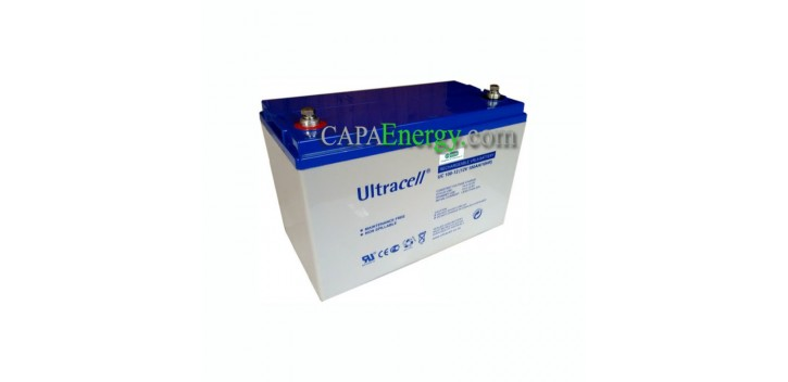 Batteria solare AGM Ultracell 12V 100Ah