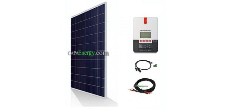 Kit solare per camper - barca 12V 300Wc