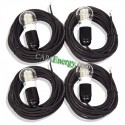 4x 5m cable with 4W LED bulb