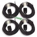 4x Cables de 5 m con bombilla LED de 4W