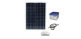 Kit solaire 20Wc - 26Ah - 12V