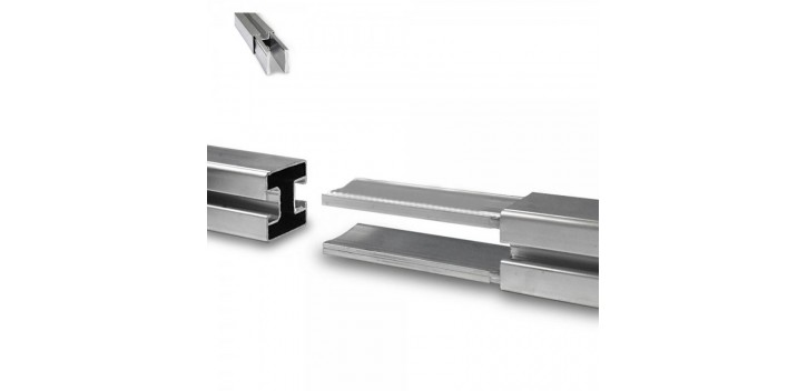 Unión para carril - 2 barras de fijación