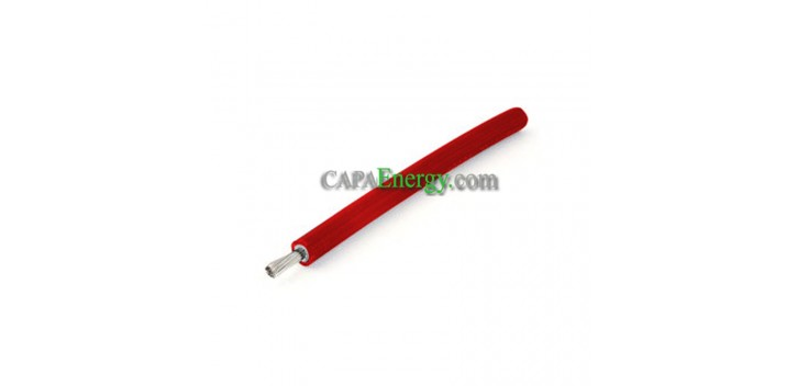 Solar cable 1X6mm² red (sold by the meter)
