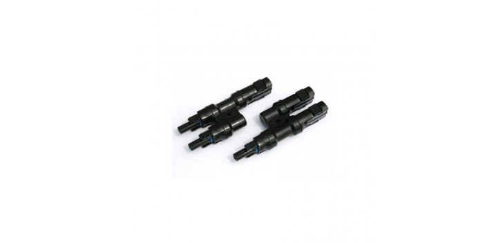 Conector MC4 doble macho y hembra