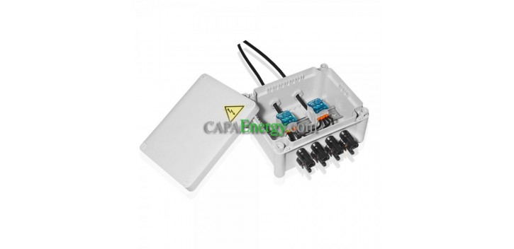 Photovoltaic junction box 4 inputs