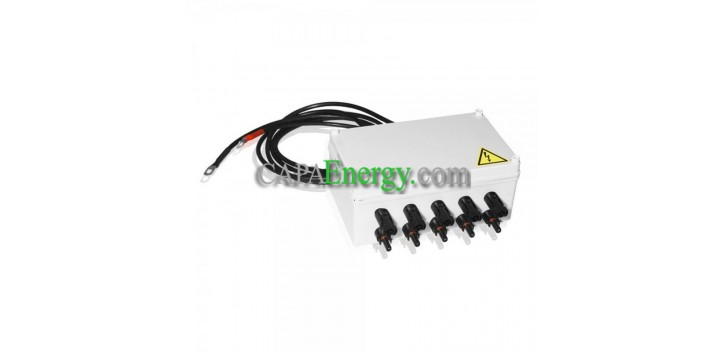 Photovoltaic junction box 5 inputs