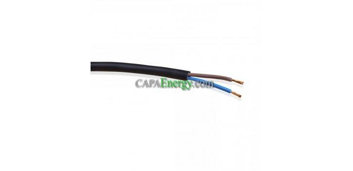 Flexibles Kabel H05RN-F 2x0,75mm² - 1m