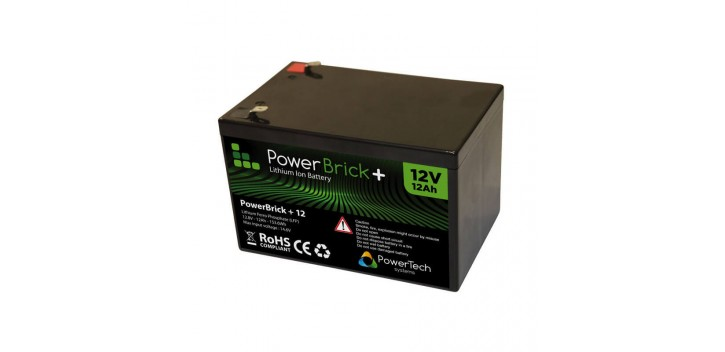 Batería de litio PowerBrick + 12V 12Ah
