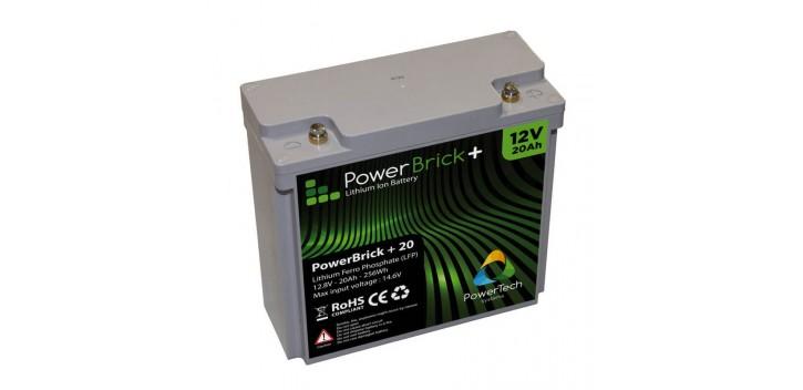 PowerBrick + 12V 20Ah Lithium Battery