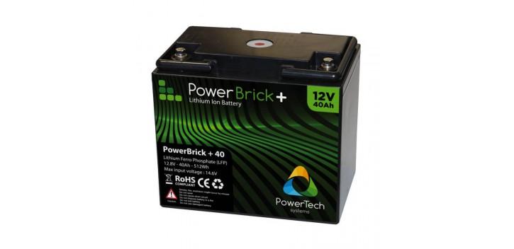 Batteria al litio PowerBrick + 12V 40Ah