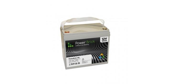 Batteria al litio PowerBrick + 12V 100Ah