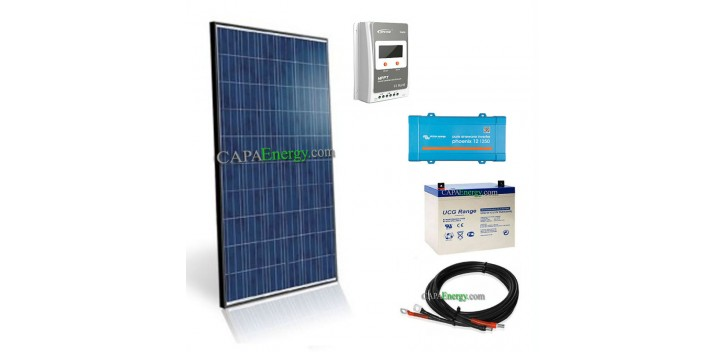 Kit solaire 260Wc poly - 100Ah - 250VA