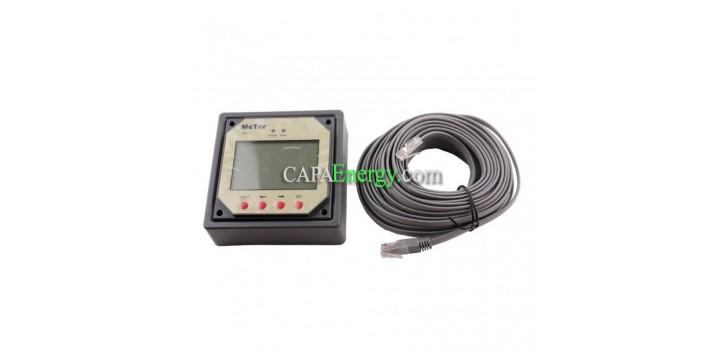 Controlador de carga solar remoto MT-1 LCD para controlador solar DUO