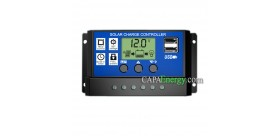 Controlador de carga solar PWM 12 / 24V 10A / 20A / 30A