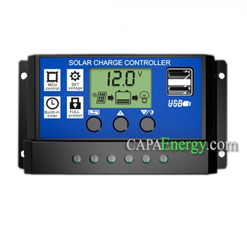 Home Improvement 20A 30A 12V/24V Solar Panel Charger Controller ...