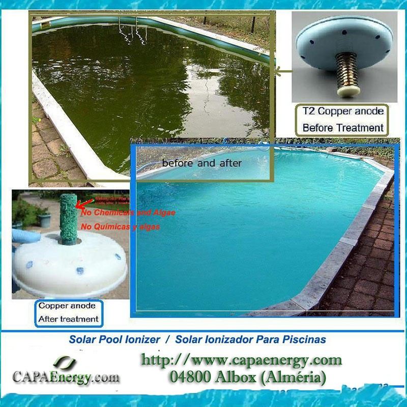 Eco pool solar ionizer for swimming pools - Swimming pool ionizer ...