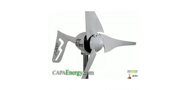 Turbine éolienne 500W-12V, régulateur i500 Land + 500W