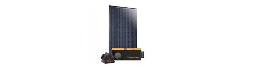 Thermal and aerovoltaic solar panels