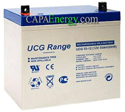GEL 55Ah battery