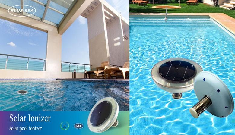 Eco-Pool, Solar-Pool-Ionisator Luftreiniger Um das kristallklare Wasser ohne Chemikalien machen